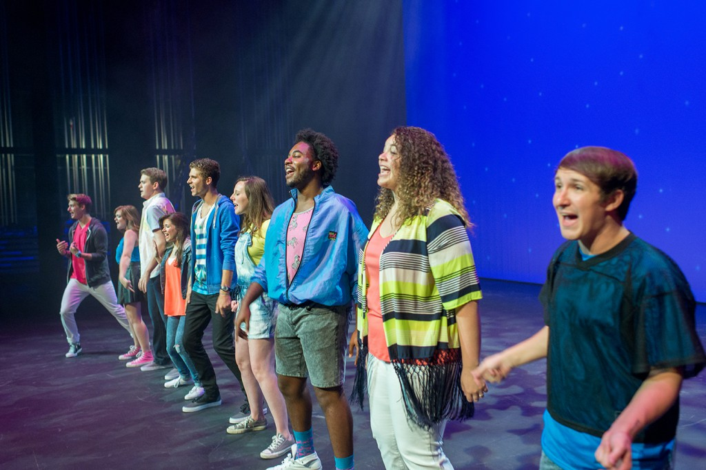 Tiger Tunes 2015 boasts ten host and hostesses, more than in year's past. The host and hostesses move in early and begin rehearsing immediately to ensure they are ready when performance time finally arrives. Photo by Tyler Rosenthal.